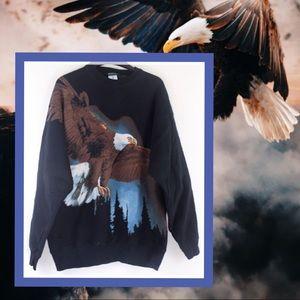 Vintage Radical Nature Epic Bald Eagle Sweatshirt